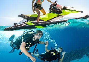 Jet ski valencua + bautismo de buceo