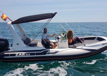 alquiler barco licencia navegacion